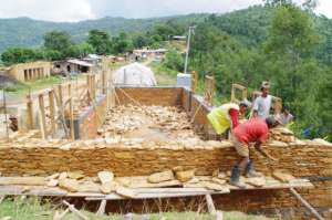 Shelter construction underway