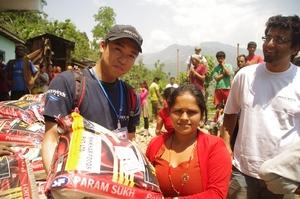 Peace Winds food distribution