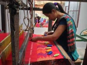Second-generation weaver Sumita.