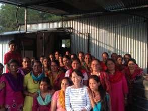 PWA staff Mari Poorman with beneficiaries.