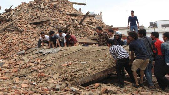 Rescue efforts in Kathmandu