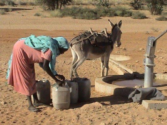 Fetching water in Darfur