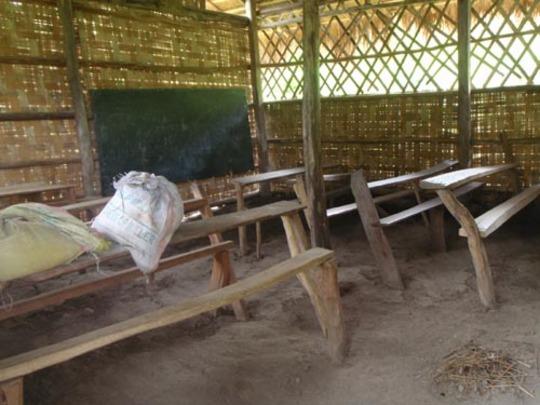 School with dirt floor