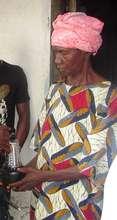 Grandmother with her solar lantern