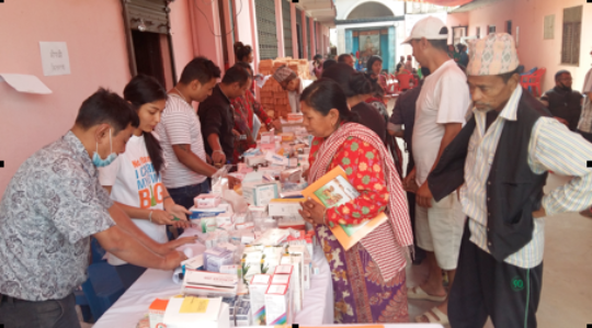 Free Medicine Distributed at Thecho Health Camp