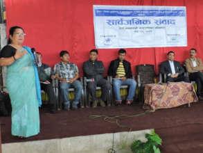 Anjana Sakya presenting HimRights Dialogue