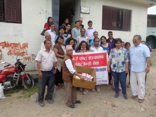 Chhatrapati Health Camp Team- Bijaya Mali (right)