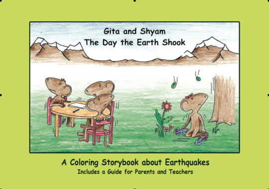 Cover - Coloring Story Book of Gita and Shyam