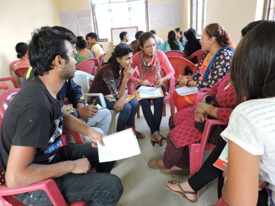 Community Dialogue on Rights Post-Earthquake