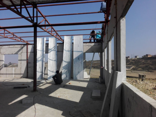 Zinc panels for Bloom Nepal School, Lalitpur