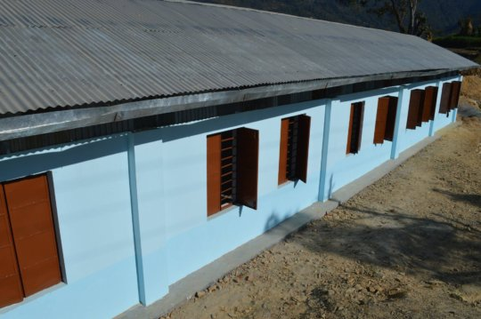 We built five new classrooms for Seti Devi.