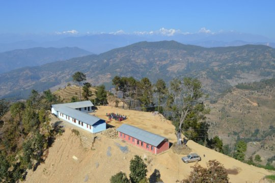 The Seti Devi school is in a remote area of Nepal.