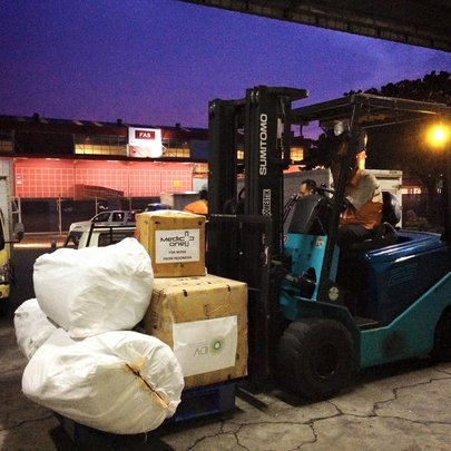 We have another 563 kg of supplies on route