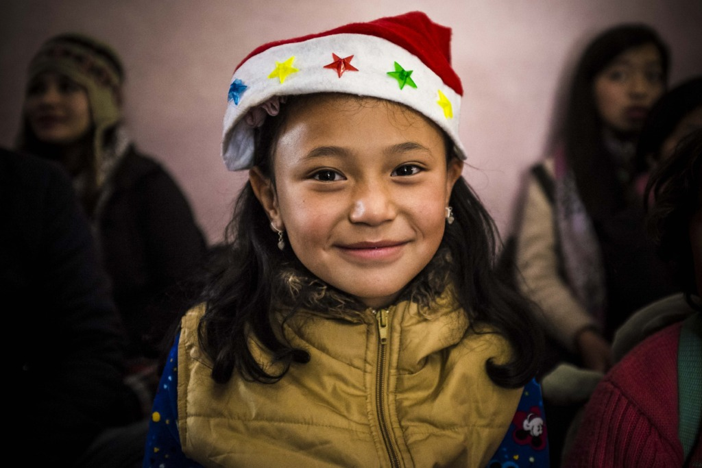 We threw a Christmas party at the Grace Orphanage