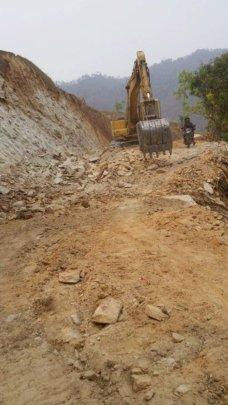 Road from Mahadavbesi to Mankhu and Goganpani