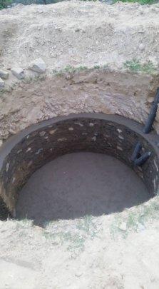 Biogass tank for school toilet