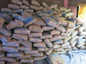 Stockpiling cement for the emergency center
