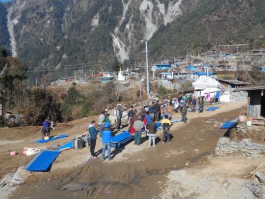GI sheet distribution in Tarkegyang