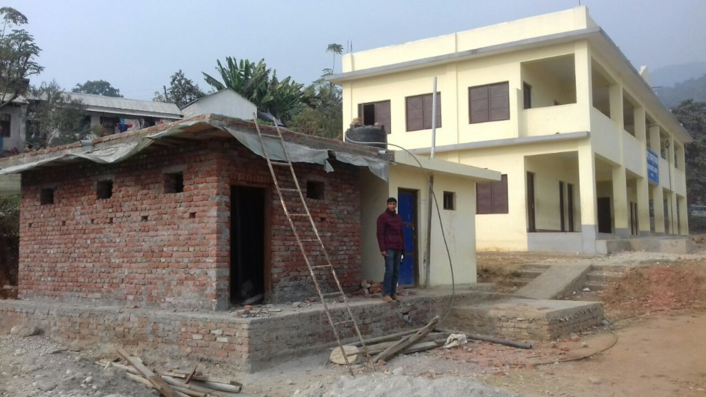 Makwanpur toilet block under construction