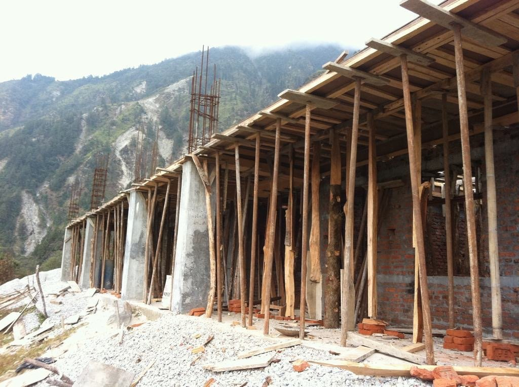 Tarkegjang school under construction
