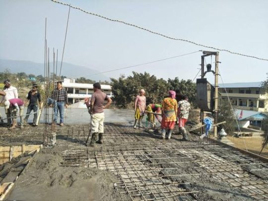Kalika school under construction