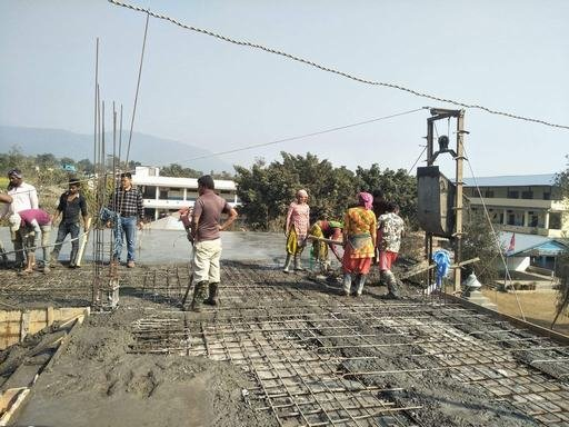 Kalika school under construction