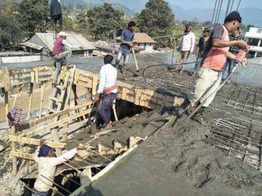 Kalika - more construction work