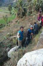 Villagers preparing irrigation channels