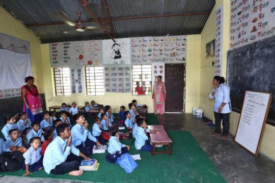 Bajarhatti school at lessons.