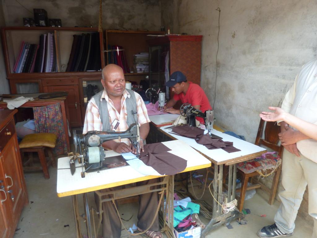 Dalit tailor.