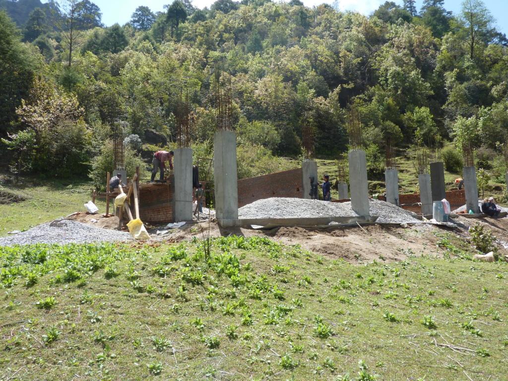 Tarkegjang school under construction