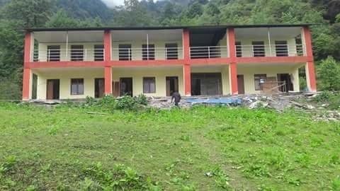 Tarkegyang school near completion