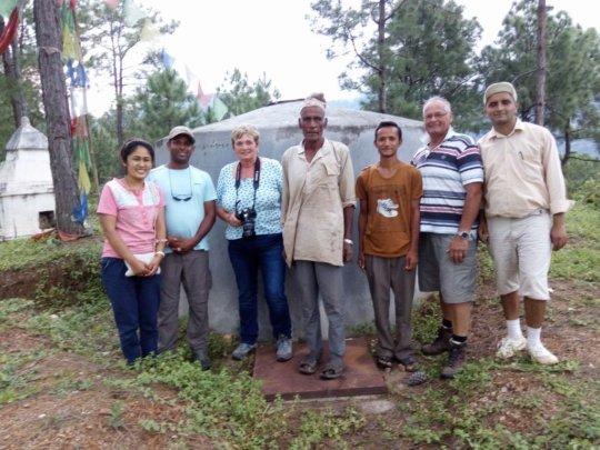 UK donors and water user committee - Kiul VDC