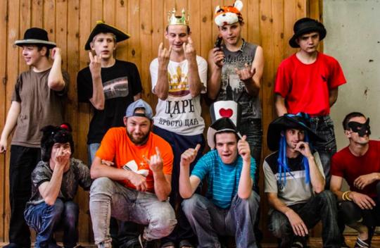 Stas & his group at Summer Camp 2016