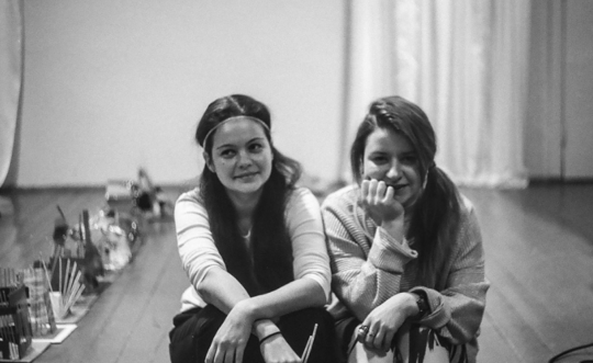 Master-class leaders Darya and Marishka