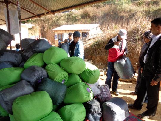Blankets for earthquake survivors