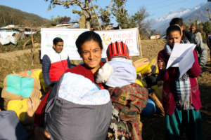 NYF distributes blankets to earthquake survivors