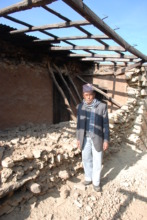 Jeevan and his wrecked house