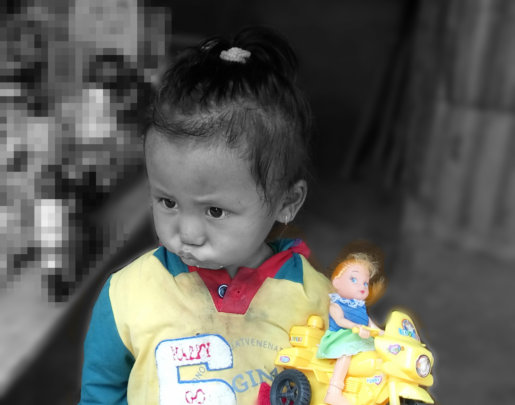 Nepali child Earthquake Survivors