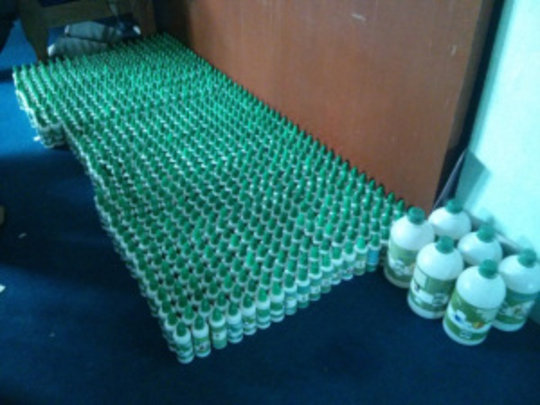 Chlorine solution ready for distribution