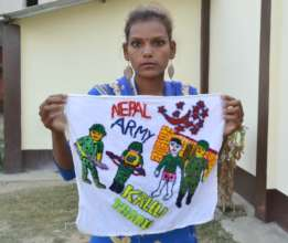 Gita remembers her brother through embroidery