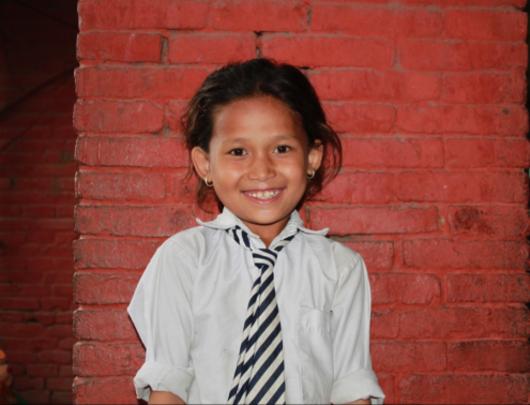 Kumari, 9, wants to be a teacher when she grows up