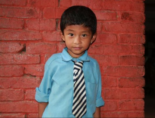 Rupesh, 5, one of 25 beneficiaries now in school