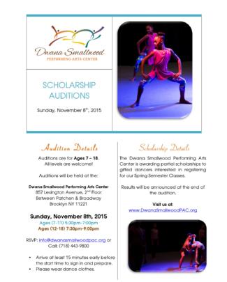 spring scholarship audition flyer