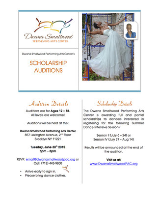 Scholarship Audition Flyer