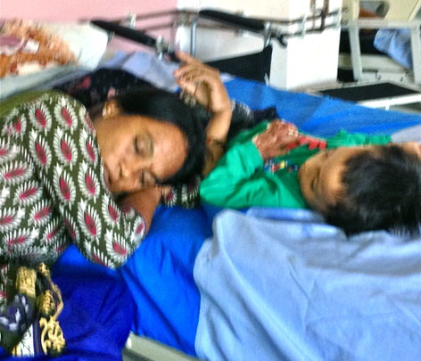 Exhausted Mother Safe in Hospital