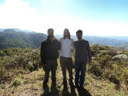 Carlos, Guilherme and Felipe on Itajurus Peak