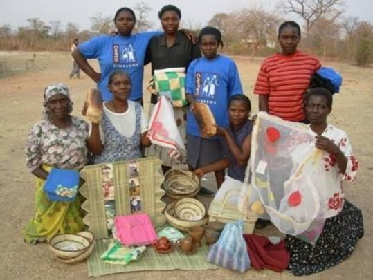 Mothers group displays hand-crafted items