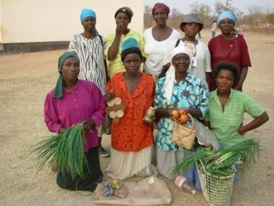Mothers Group displaying vegetables