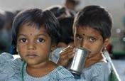Distributing Milk to 1000 Slum Children